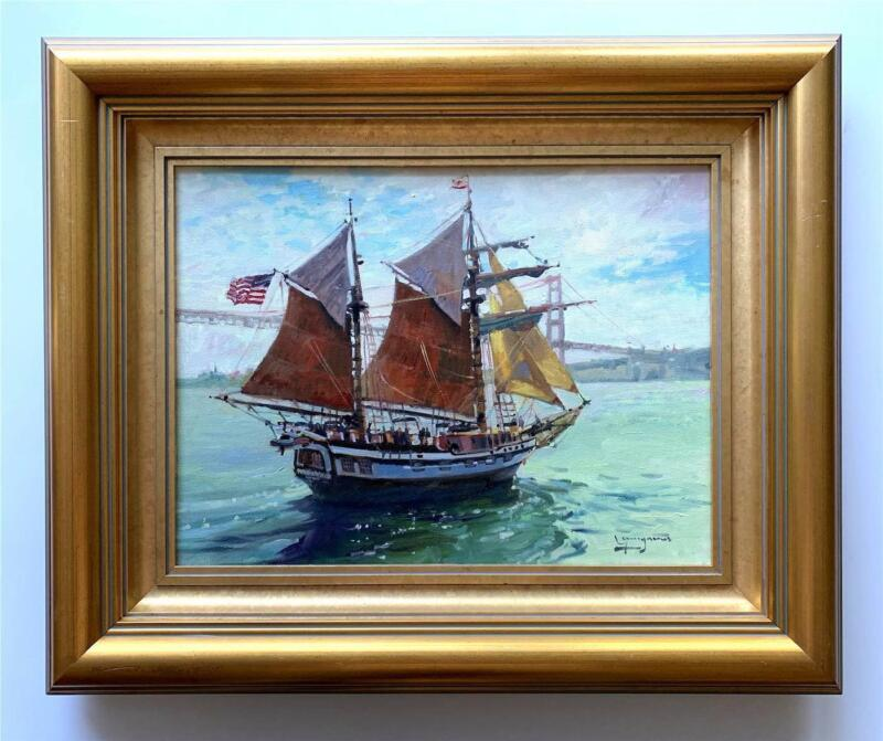 """Paul Youngman -""""Hawaiian Chieftain"""" in San Francisco Bay w/ Golden Gate View"""