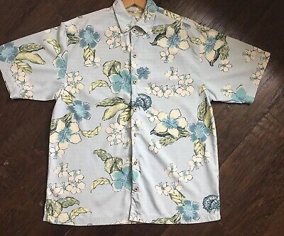 10b7803f $28.99. TOMMY BAHAMA Silk Floral Shirt Evaluate Large S/S Camp Aloha ...
