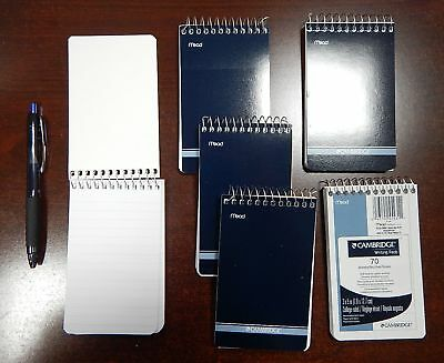 6 Mead Cambridge Writing Pad 3 X 5 Small Memo Book Wirebound Notebook 70sheet