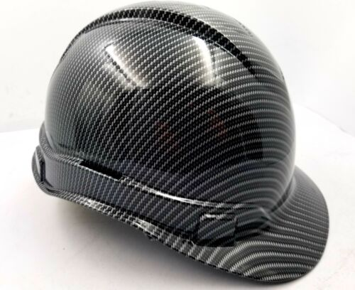 Hard Hat custom hydro dipped , OSHA approved , NEW TRUE WEAVE CARBON FIBER 1