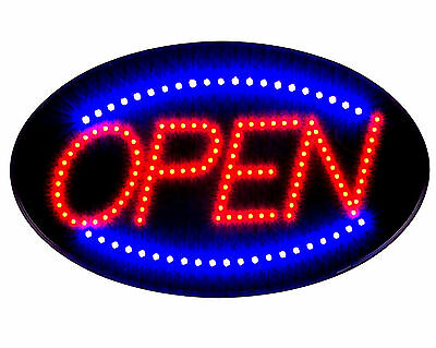 Delux Ultra Bright Jumbo Size Flash Motion 24x 13 Led Neon Open Sign Light U30