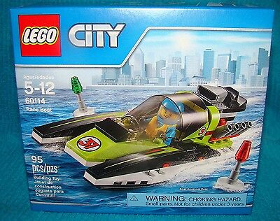 New Lego City Race Boat 60114 Factory Sealed