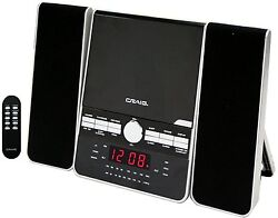 CRAIG 3-PIECE CD SHELF SPEAKER SYSTEM DUAL ALARM CLOCK AM/FM STEREO RADIO REMOTE