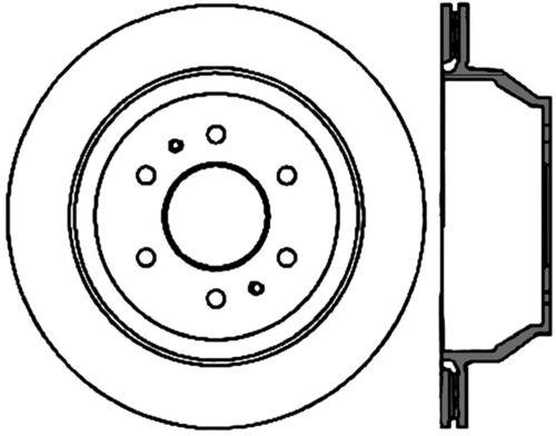 Disc Brake Rotor C Tek Standard Rear Centric 121 66052
