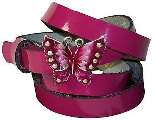 fronhofer-Mujer-Cinturon-Piel-Charol-Mariposa-sommergurtel-Hebilla-1-5-cm