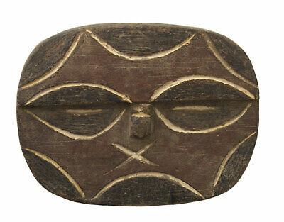 Masquette Mask Passport African Teke Kidumu Wood 11.6cm Art First 16687