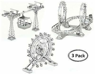 3 Wheeled Kit Car - Roller Coaster Cable Car Ferris Wheel Metal Model Kit 3D Laser Cut 3D Puzzle NEW