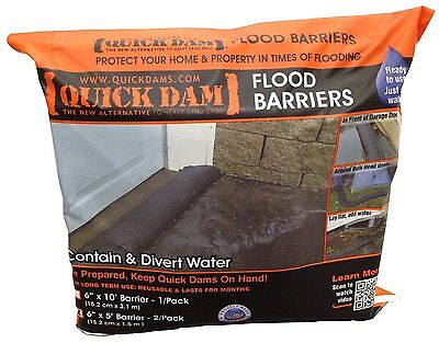 "Quick Dam Flood Barrier 6"" X 5' (2 pack), New, Free Shipping on Rummage"