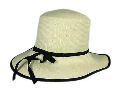 9e827cd0fbf7e Stetson Natural Raymonde Straw Hat Fedora Size Medium R Oval 3 1 2