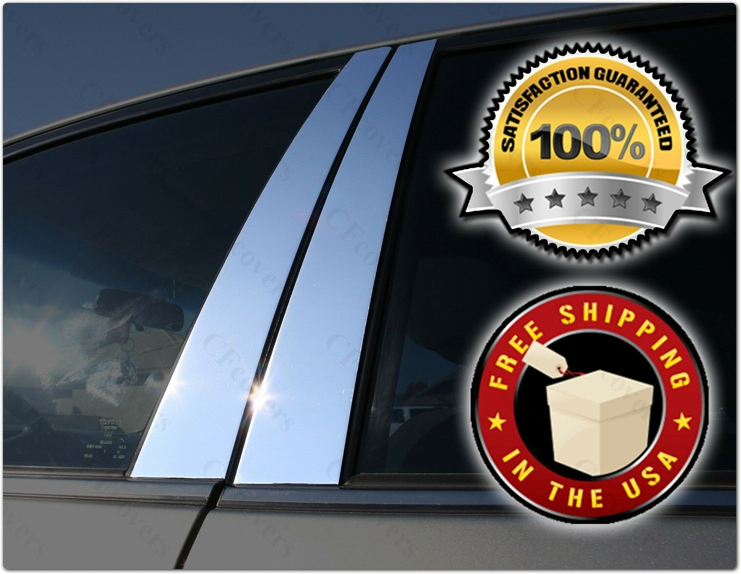 Fits Honda Accord 4DR 08-12 QAA Stainless Chrome Polished Pillar Posts 4PCS