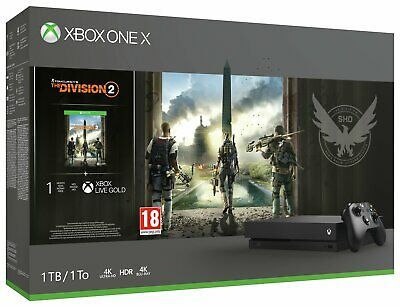 Microsoft Xbox One X 1TB 4K Console with The Division 2 Bundle - Black