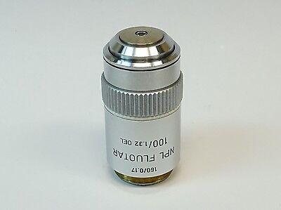 Leitz Wetzlar Npl Fluotar 100x1.32 1600.17 Oil Microscope Objective