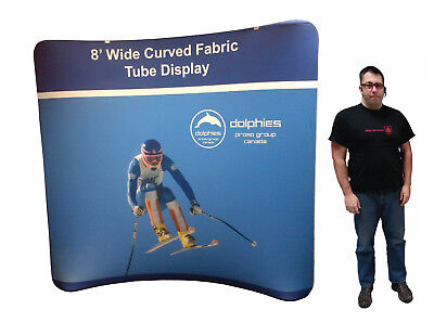 Trade Show 8 Tube Tension Fabric Pop Up Booth Display Exhibit Dye-sub Print