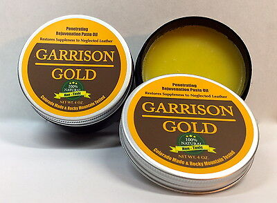Garrison Gold: A Rejuvenation Paste Oil for all Smooth Leather