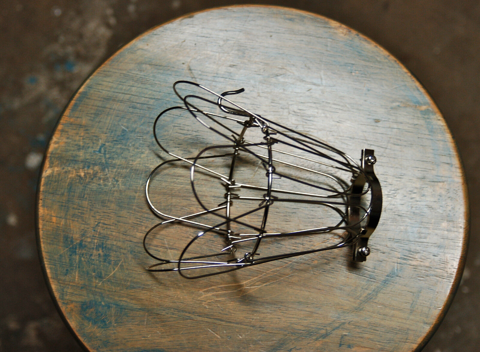 NICKEL WIRE BULB Cage, Clamp On Lamp Guard, Vintage Trouble Lights ...