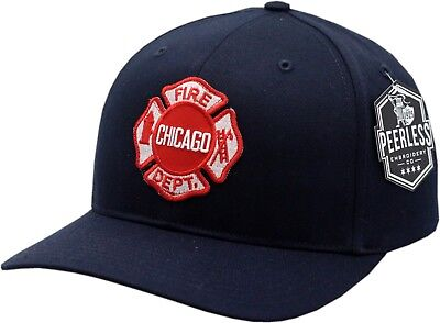 Chicago Fire Department Hat Maltese Patch Twill Adjustable  - Fire Hat