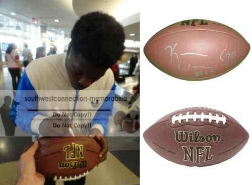 Kendall Wright Signed NFL Football Tennessee Titans Baylor Bears Proof Autograph