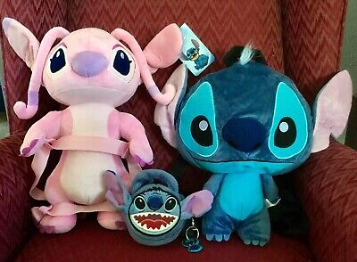 3 NEW DISNEY LILO & STITCH & ANGEL 3D COSTUME BACKPACK RUCKSACK BAG PLUSH PURSE - Dr Who Angel Costume