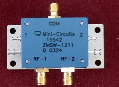 Mini Circuits 50 Ohm Spdt 10-2500 Mhz Coaxial Switch New
