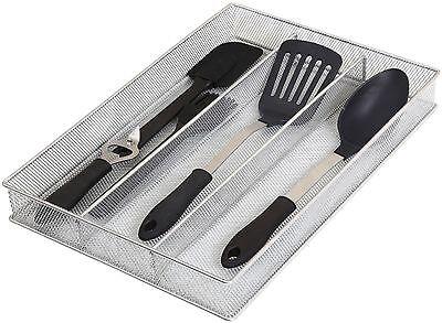 Gadget Tray - Mesh 3 Part Drawer Cutlery Utensil Flatware  tray Kitchen Gadget Organizer 1150