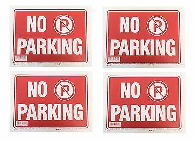 4 Sign - No Parking - Plastic Size 9x12 4pcs