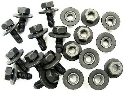 Honda Body Bolts & Barbed Nuts- M6-1.0mm x 16mm Long- 10mm Hex- 20 pcs- #376