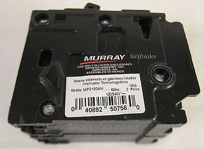 Murray Type Mp-ht Mp2100kh 22k-air Double Pole 100a Plug-on Circuit Breaker New