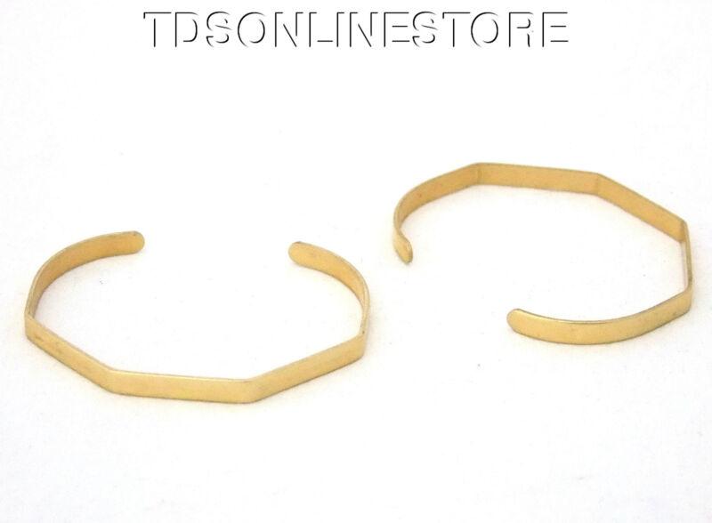 5 Sided Brass Bracelet Cuff Blanks For Jewelry Making 1/4 inch Pkg Of 2