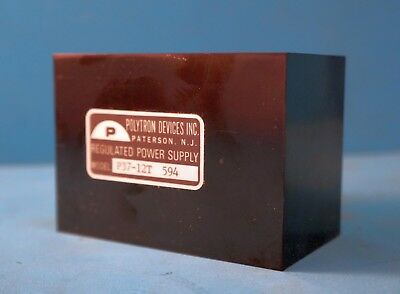 Polytron Devices Regulated Power Supply P37-12t 594 12vdc .5a