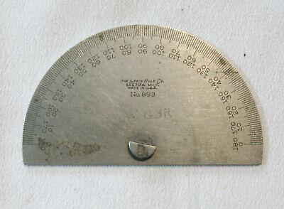 Vintage Starrett Steel Protractorangle Bevel No. 893 Machinist Tool - Vguc