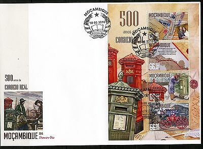 MOZANBIQUE 2016 500th ANNIVERSARY OF THE ROYAL MAIL SHEET FIRST DAY COVER