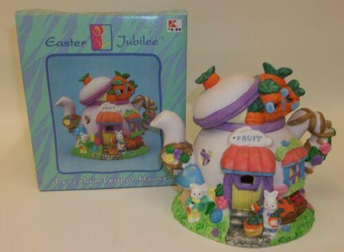 Decorative Porcelain Easter Jubilee Teapot House - MIB