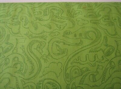 Dr. Seuss Horton Hears Who Green Robert Kaufman Cat In the Hat Fabric 1/2 YARD - Dr Seuss Who Costumes