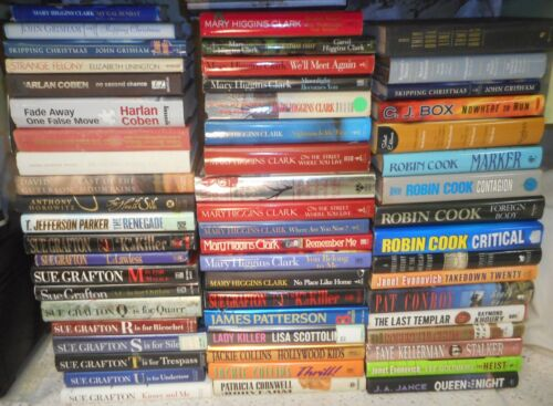 Mystery Intrigue Fiction Paperback/Hardback Book Lot x 111 by Various Authors