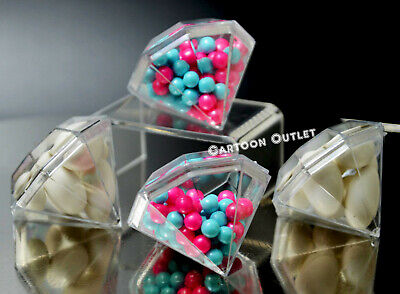 12 CANDY CONTAINERS FILLABLE JAR PARTY FAVORS BABY SHOWER QUINCEANERA RECUERDOS  (Baby Shower Candy Jars)