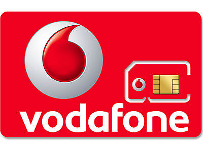1 x VODAFONE UK PAY AS YOU GO 3G 4G RED SIM CARD NEW VODAPHONE VODA NETWORK PAUG
