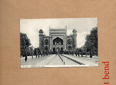 India Agra Gate of Taj Sepia card unposted.ao1