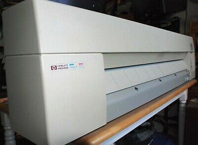 Hp Hewlett Packard Designjet 250c Large Format Printer Plotter Black Color