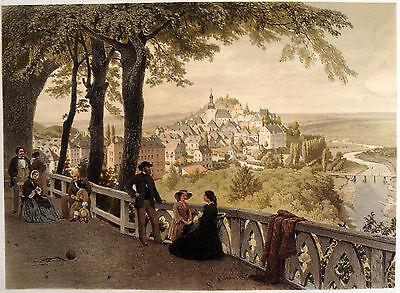 ARNSBERG sehr schöne Ansicht Farblithographie 1860 - Original!