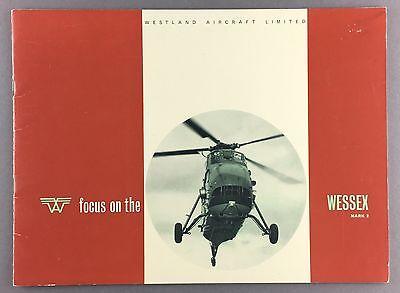 WESTLAND WESSEX MARK II HELICOPTER MANUFACTURERS SALES BROCHURE