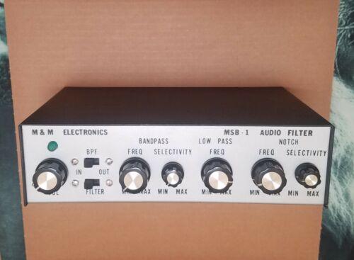 M&M Electronics MSB-1 Ham Radio SSB CW Audio Filter