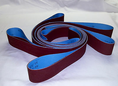 2x48 Sanding Belts 220 Grit Premium Red J Flex 5pcs