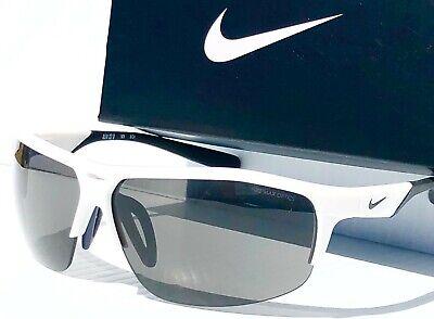 NEW* NIKE RUN X2 White w Grey FLASH Sunglass Bike Run Golf 101 (Cheap Motorcycle Sunglasses)