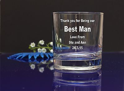 Personalised BEST MAN engraved Whiskey WEDDING favor gift anniversary gift26 (Best Wedding Anniversary Gifts For Men)