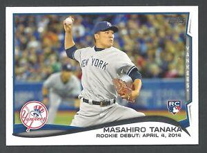 2014 Topps Update Masahiro Tanaka #US-25 ROOKIE - Yankees