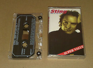 Bootleg-Sting-Best-of-Live-Vol-01-Very-Rare-Cassette-1991-live-in-Chicago-siae