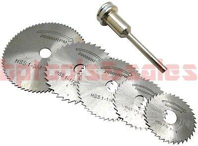 Mini Rotary Cutter - 6pc HSS Saw Disc Set Rotary Cutter Mini Circular Saw Disc Blade w/ 1/8