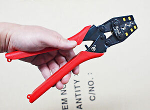 NEW-EXSO-ECT-14-Ratchet-Terminal-Crimping-Crimper-Pliers-Tool-AWG-22-6-0-5-16mm