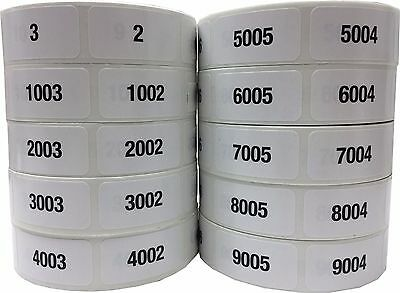 Consecutive Number Labels 34 X 1.5 Inch Wide - 1 Label Per Number Pick A Set