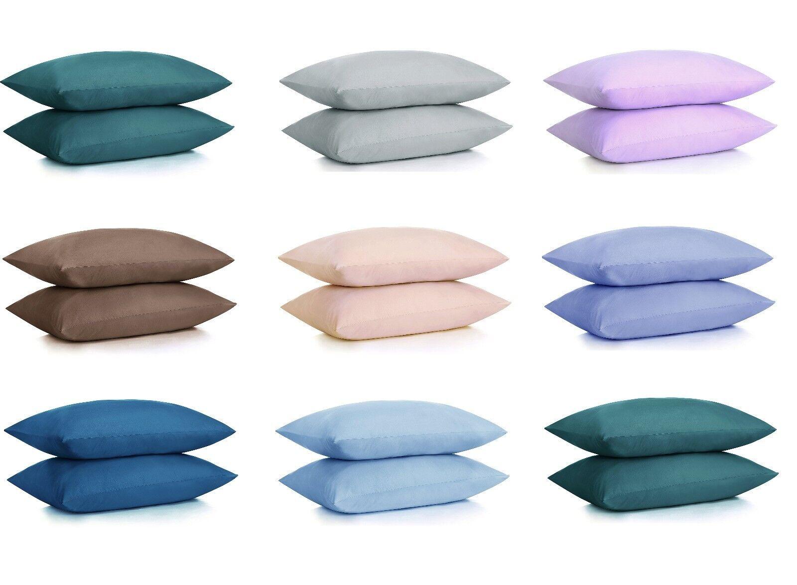 NEW ULTRA SOFT PILLOWCASES - 2 Pillow Cases Per Set Standard